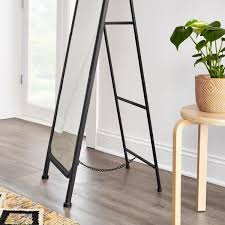 standing mirror with curved edges