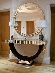 entrance table and mirror design