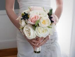 blush pink rose garden wedding bouquet