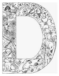Letter D Kleurplaat Kleurplaten Alfabet Kleurplaten Boek