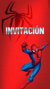 Tarjeta De Invitacion Animada Del Hombre Arana En 2020