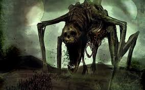 evil horror y creepy scary