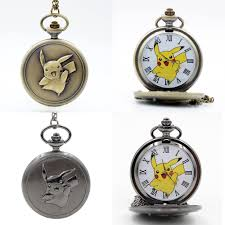 Fashion Pikachu Game Boy Pokemon Pocket Monsters Quartz Pocket Watch Analog  Pendant Necklace Men Women Watches Chain Boy Gift Pocket & Fob Watches