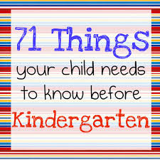 71 things your child needs to know