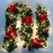 stairs fireplace garland