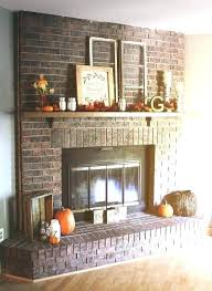 red brick fireplace painted ideas