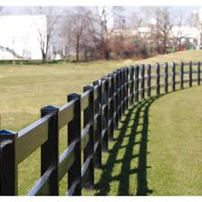 Superior Post And Rail Fence Section 2 X 6 Rails Black Hoover Fence Co