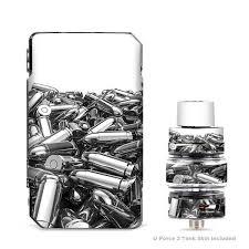 Skin Decals For Voopoo Drag 2 Kit Silver Bullets Polished Black White Itsaskin Com