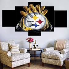 Amazon Com Bvc Pittsburgh Steelers Gloves Sport Poster 5 Pieces Canvas Wall Art Paintings Hd Prints Home Decoration Sports Outdoors