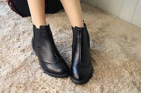 brown leather flat ankle boots