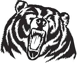 Amazon Com Grizzly Bear Decal Sticker Large 9 8 X 8 Inches Roaring Wild Grizzly Bear Decal Sticker For Car Truck Window Trailer Kitchen Dining