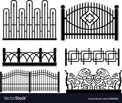 Forged Metal Fences Royalty Free Vector Image Vectorstock