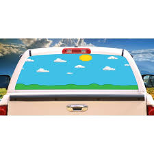 Gamer Landscape Rear Window Graphic Truck View Thru Vinyl Decal Back Walmart Com Walmart Com