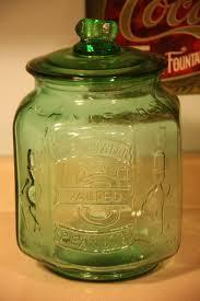 green mr peanut large glass jar by