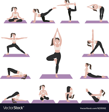 yoga postures exercises set royalty