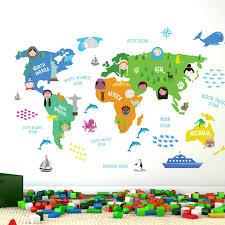 Ebern Designs Nursery World Map Wall Decal Reviews Wayfair