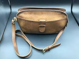 coach suede leather bag light tan