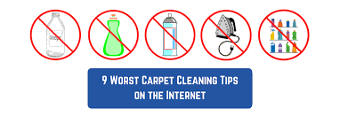 9 worst carpet cleaning tips on the