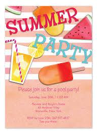 summer essentials party invitations