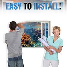 Realistic Window Wall Decal Peel And S Buy Online In Malta At Desertcart