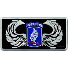 Mitchell Proffitt 173rd Airborne License Plate Logo Gear Military Shop The Exchange