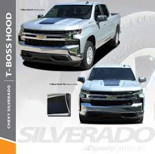 2019 Chevy Silverado Hood Stripes T Boss Hood Decals 2019 2020