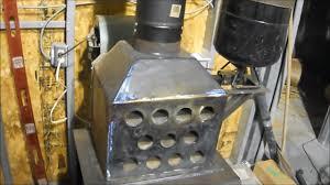 hybrid waste oil and wood garage heater