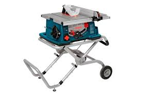 Bosch 10 Worksite Table Saw With Gravity Rise Wheeled Stand