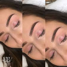 ombre eyebrow tattoo healing ses