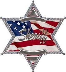 6 Point Star Sheriff Police American Flag Decal Weston Signs