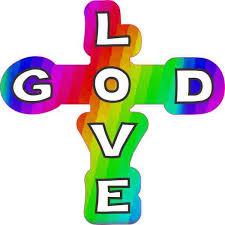 4in X 4in Rainbow God Love Cross Sticker Religious Car Window Bumper Decal Stickertalk