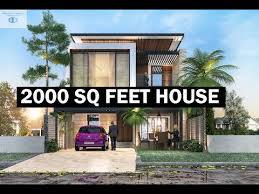 2000 sq feet house with plan and rooms