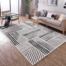 white geometric pattern carpet
