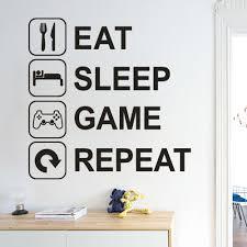2020 جديد موضة خلفيات أكل النوم لعبة تكرار للإزالة الفن الفينيل