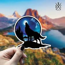 Wolf Moon Sticker Vinyl Decal Car Laptop Wall Iphone Macbook Bumper Stickers 2 95 Picclick