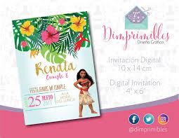 Moana Moana Invitation Moana Printable Moana Digital Moana
