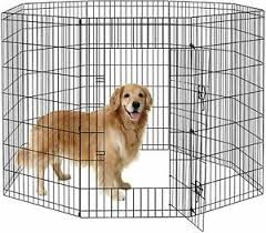 Pet Dog Playpen Foldable Puppy Exercise Pen Metal Portable Yard Fence For Small Ebay
