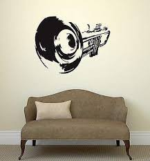 Amazon Com V Studios Wall Decal Trumpet Jazz Music Art Musical Instrument Vinyl Stickers Vs2956 Home Kitchen