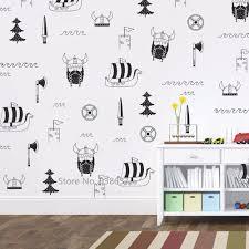 Viking Wall Stickers Home Decor Bedroom Vinyl Cute Nursery Wall Decals Scandinavian Decoration Diy Kids Room Art Wallpaper Jw300 Stickers Home Decor Wall Stickernursery Wall Decal Aliexpress