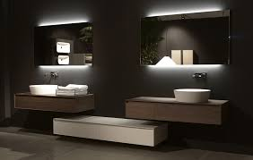 stylish back lit bathroom mirrors