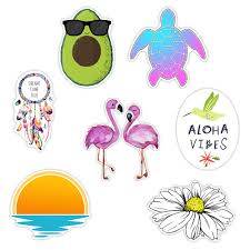 Cute Aloha Beach Stickers Pack Aesthetic Stickers For Hydro Flask Stickers Laptop Computers Notebook Planner Trendy Scrapbooking 7 Pack Walmart Com Walmart Com