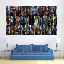 Dota 2 Online Game All Heroes Block Giant Wall Art Poster