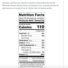 using the nutrition facts label from a