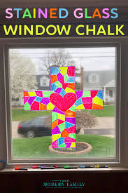 stained glass with washable window