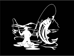 Fly Fishing Decal Trout Decal Fishing Decal Lake Life Decal Vinyl Decal Car Truck Auto Vehicle Window Custom Truck Window Stickers Fishing Decals Custom Vinyl