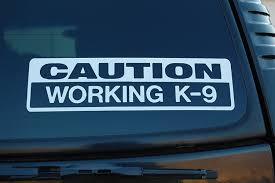 Amazon Com Caution Working K9 Vinyl Sticker Decal Police Dog Law Enforcement Choose Color Size V450 10 X 3 White Arts Crafts Sewing