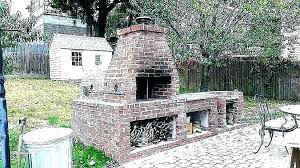 appealing outdoor brick fireplace grill