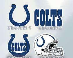 Colts Decal Etsy