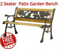 garden furniture bench safari park iron