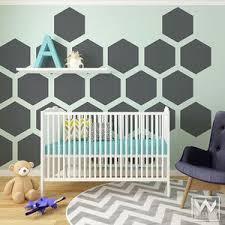 Large Hexagons Shapes Vinyl Wall Decal Large Peel Stick Wall Mural Wallternatives
